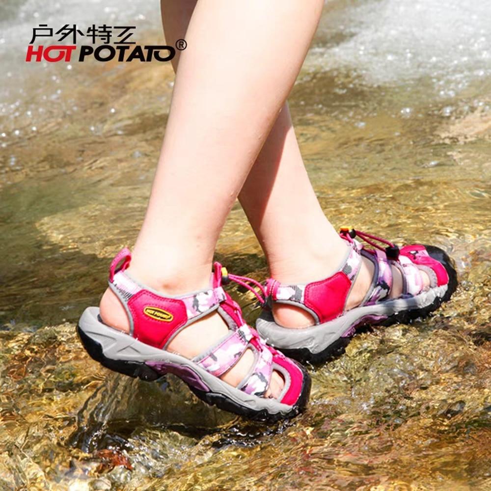 Hot Potato Aqua Shoes Women Outdoor Sport Sneakers Beach Sandals Women Quick-Drying Non-Slip Light Climbing Hiking Shoes HP8811