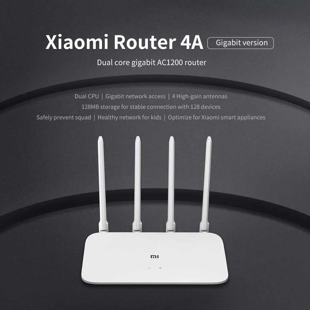 Versión Global Xiaomi Router 4A Gigabit edición 100M 1000M 2,4 GHz WiFi de 5GHz ROM 16MB 64MB 128MB de alta ganancia 4 AntennasAPP Control