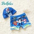 2017 summer baby boys swimwear fashion cartoon children swimsuit pants cute boys trunks cap free 10M-8T