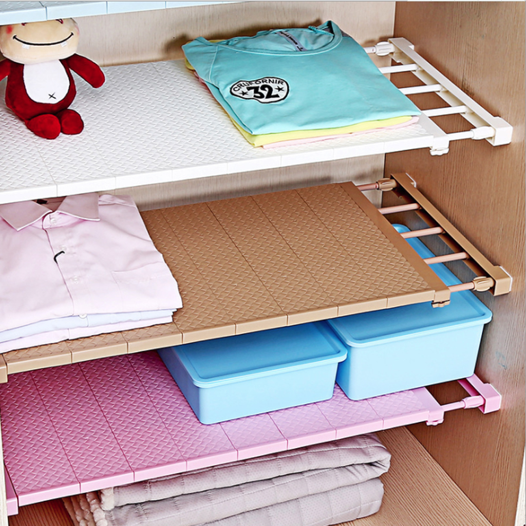 Adjustable Storage Shelf Multi-Functional Clothing Organizer Wall Mounted Kitchen Rack Space Saving Shelf Towel Drainer Holders