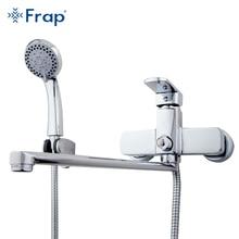 Здесь можно купить   Frap High-quality Brass body 35cm length outlet rotated Bath room shower faucet With ABS shower head torneiras monocom F2273 Bathroom Fixture
