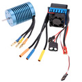 3650 4370KV 4P Sensorless Brushless Motor with 45A Brushless ESC (Electric Speed Controller) for 1/10 RC Off-Road Car