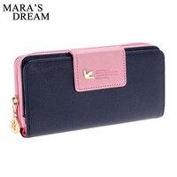 Mara S Dream Women Leather Wallet Women S Clutch Bag Hasp Wallet Zipper Long Purses Card