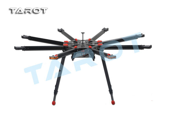 Tarot X8 1050mm 8-Axis PCB Center Board Plate Umbrella Folding FPV Octocopter Frame TL8X000 with Retractable Landing Gear f11270 tarot x8 tl8x000 8 axle octocopter umbrella type folding frame multicopter electronic retractable landing skid for fpv