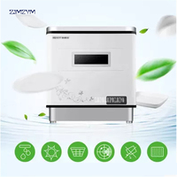 XWJ 1606 automatic dishwasher small desktop disinfection drying one independent type brush bowl machine wash bowl dish dry 1100W