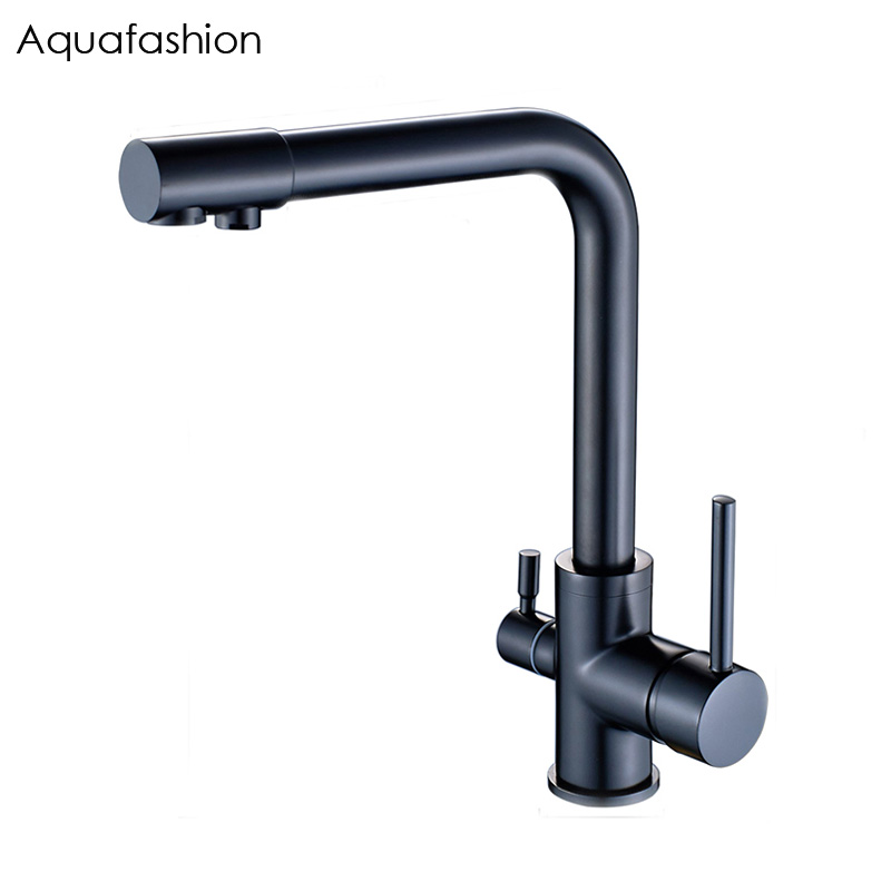 Kitchen Mixer Black Kitchen Water Filter Taps  Drinking Water Filter Faucet Brass Kitchen Sink Tap Water Tap black water серый пуховик