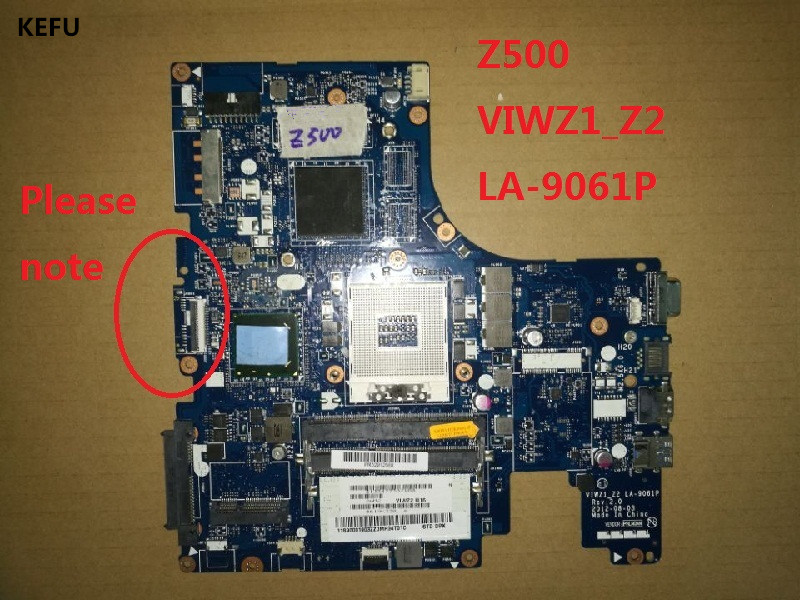 KEFU High quanlity Laptop Motherboard For Lenovo Z500 VIWZ1 Z2 VIWZ2 LA 9061P