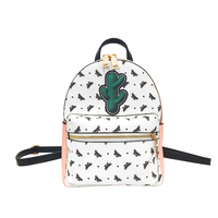 Fashion Lovely Women S Backpack PU Leather Cute Charms Butterfly Print Knapsacks Female School Bags Portfolio