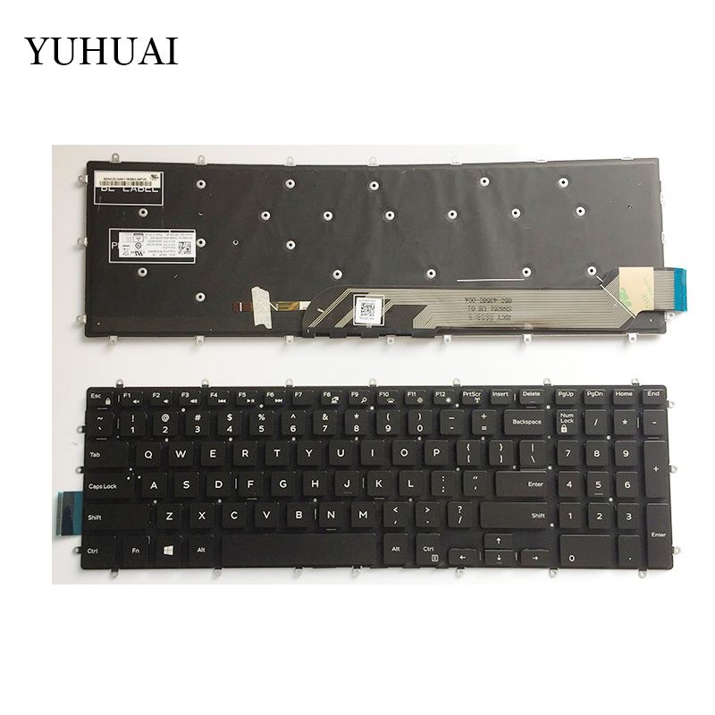 US New Keyboard for Dell Inspiron 5570 5575 5770 5775 laptop Backlit keyboard image