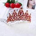 2017 Moda de Nueva Red Crystal Rhinestone de La Corona de Flores Barroco Diadema Encanto Pelo de La Novia Accesorios de La Joyería Del Banquete de Boda Regalos