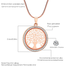 Crystal Round Small Pendant Necklace