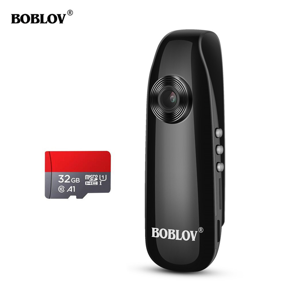 Boblov 007 1920x108HD Resolution Mini Digital Camera Body Wore AVI Video Camera 32GB TF Card Recorder DVR Camera Police CAM