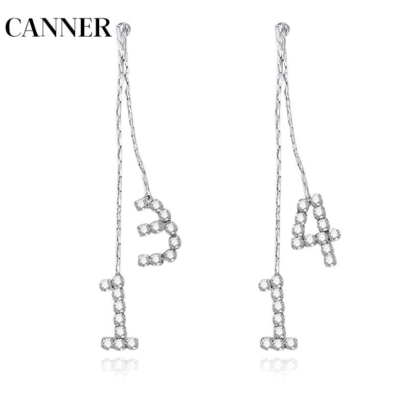 United Canner 1314 Love You Forever Earrings Women Female Chinese Love U Crystal Dangle Earrings Number Drop Earrings For Gf Wife R4 100% Original Jewelry & Accessories
