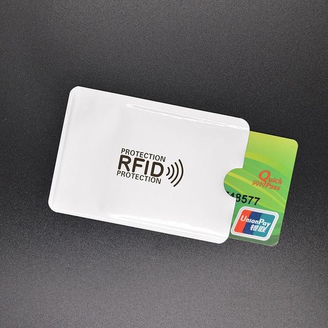 Anti Rfid Blocking Reader Lock Metal Card Holder Aluminium Porte - Porte carte anti rfid