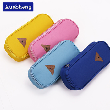 1 PC Korean Style Candy Color Canvas Pencil Case Multifunction Stationery Storage Organizer Bag School Supply Escolar Papelaria 1 pc lovely annoy shiba dog pu large pencil case stationery storage organizer bag school office supply escolar
