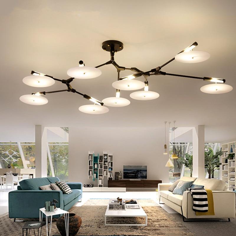 Modern LED chandeliers Metal Gold Indoor Lighting For Living Room Dinning Room Kitchen Fixtures lampadari luminaire