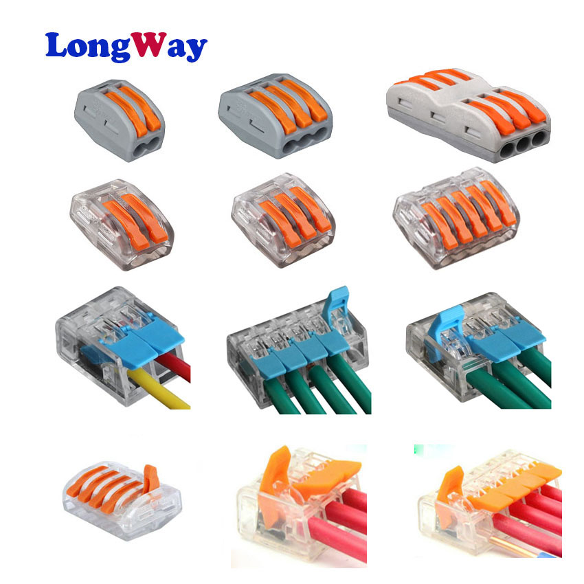 Wire connector 221-412 221-413 Universal Compact wago Wire Connection 2 pinss cable connector Terminal Block plug-in Connector