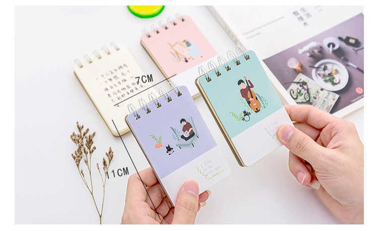 اليابانية الصغيرة الطازجة نمط دفتر الملونة نمط لفائف ملزم المفكرة مكتب القرطاسية و اللوازم المدرسية 1 قطعة/90 صفحات