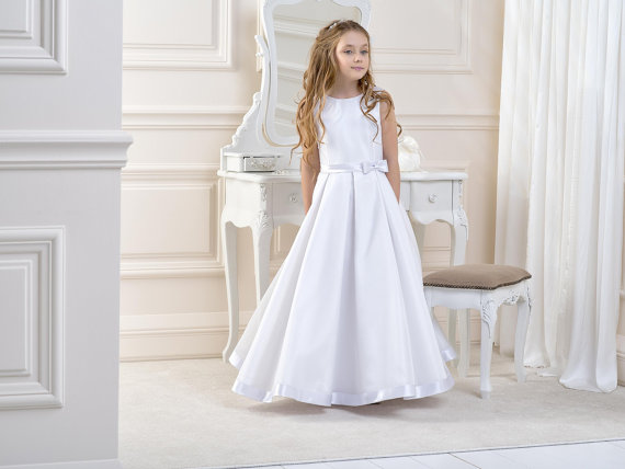 Flower Girls Dresses For Wedding Gown A-Line Girl Birthday Party Dress Satin Mother Daughter Gowns Long Mother Maughter Mresses lace flower girl dress birthday ball gown wedding party holiday bridesmaid long pageant dresses for girl mother daughter dresses