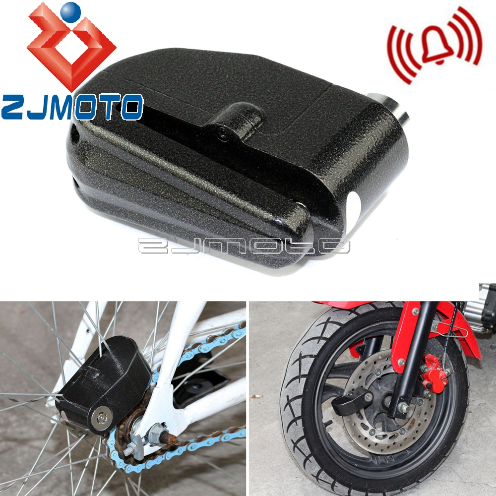 Black 6mm Anti Theft Security Lock Motorcycle Motorbike Bike Disc Lock Loud Alarm Scooter Anti-theft Lock