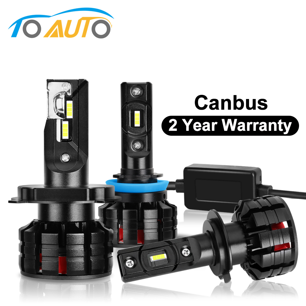 2Pcs H1 <font><b>H3</b></font> H4 H7 <font><b>Led</b></font> Canbus H8 H11 HB3 9005 HB4 9006 <font><b>Led</b></font> Headlights Mini <font><b>100W</b></font> 10000LM 6000K Car Light Bulbs Automobile Auto Lamp image