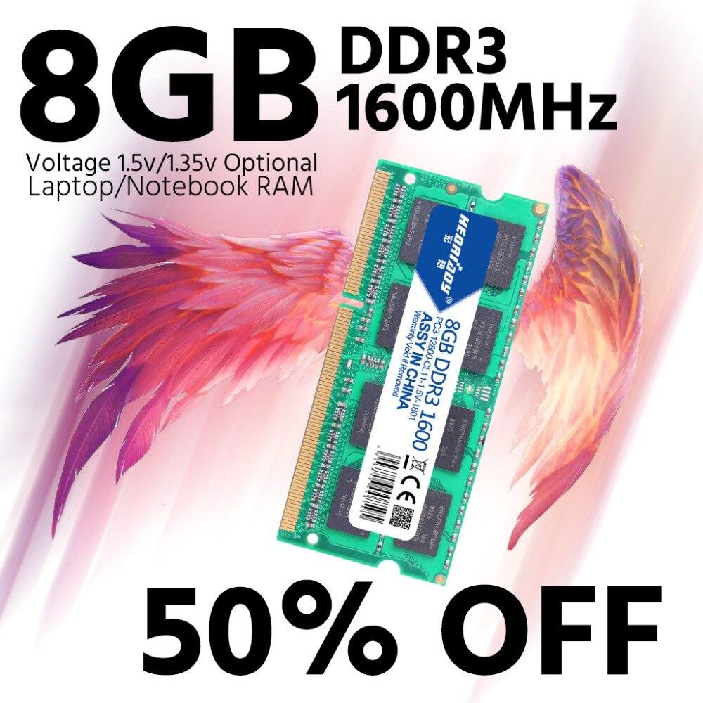 DDR3 8GB 1600 ram dizüstü bilgisayar için 1600MHz sodimm macbook ddr3l uyumlu ddr3 dizüstü 4gb 1333MHz sdram 1066 mhz