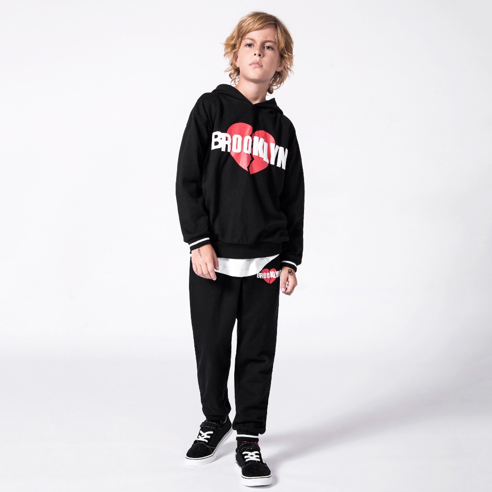 MD-142 Spring Autumn Boy Girl Clothes Set,Hoodie+Pants 2PC Suits Teenager Kids Child Clothes Fashion Sport Sets print Tracksuit letter print raglan hoodie