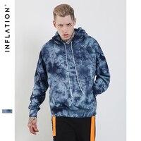 อัตราเงินเฟ้อแฟชั่นฤดูหนาวใหม่มัดย้อมHoodiesชายเสื้อผ้าฝ้ายSteetwear Pulloversสบายๆส