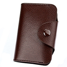 Leather MenS And WomenS Card Wallet Bank Credit Candy Color Bag