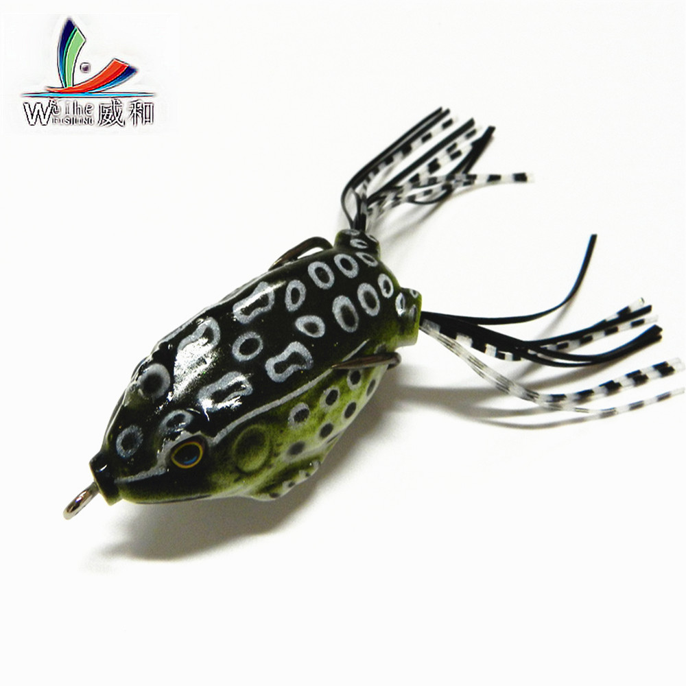New Sell 1 Pcs Artificial 5.5cm 14g Bait Soft Plastic Bait Tube Fishing Lures Frog Topwater Toad Ray Lure Sharp HooksFfishing