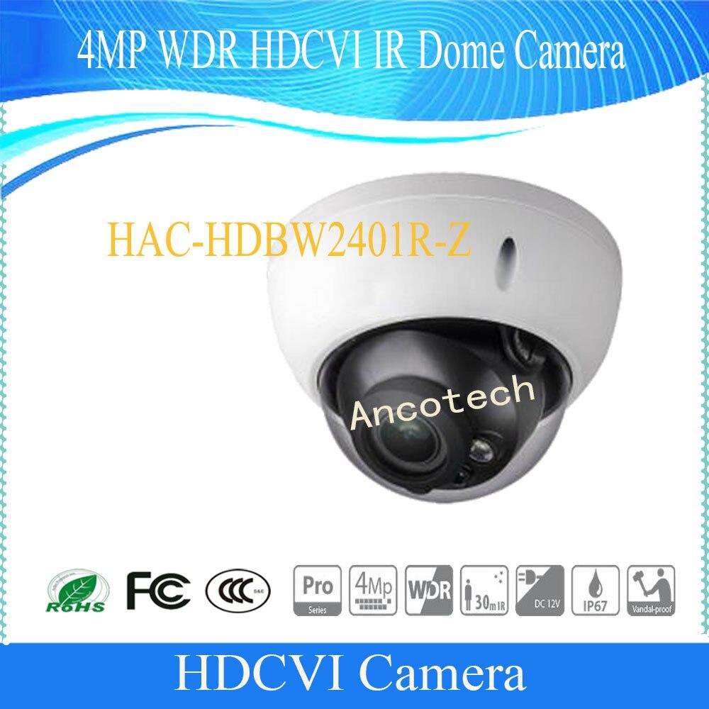 Free Shipping DAHUA Security Camera 4MP WDR HDCVI IR Dome Camera IP67 IK10 Without Logo HAC-HDBW2401R-Z dahua 2 1mp 1080p vandal proof wdr ir hdcvi mini dome camera ip67 ik10 security cctv outdoor camera without logo hac hdbw2221e