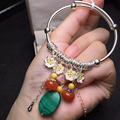 Doce pulseiras 925 pulseiras de prata esterlina 100% natural clássico cera de abelha para as mulheres belas jóias para homens