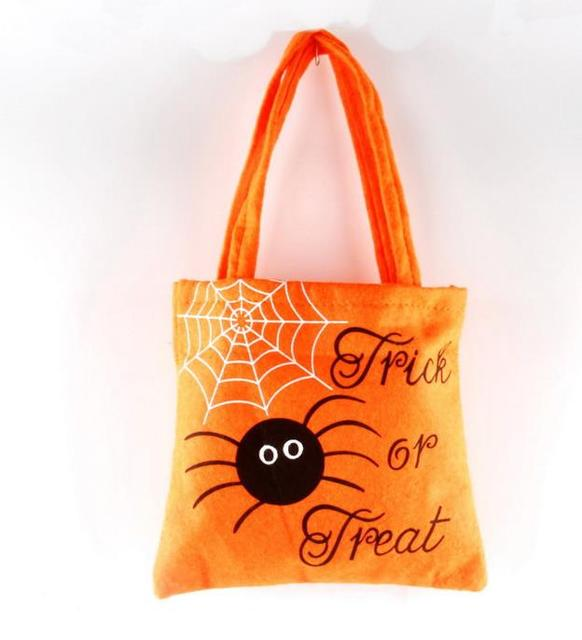 Felt Trick Or Treat Bag Pumpkin Spider Reusable Candy Carry Tote Easter Children Party Favors