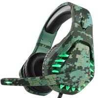 3.5mm Gaming Headsets Big Headphones With Light Mic Stereo Earphones Deep Bass for PC Computer Gamer Tablet PS4 X BOX