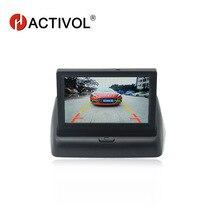 4,3 дюймов TFT ЖК-дисплей Парковка монитор для авто заднего вида Камера монитор 480*272 16:9 Экран 2 способ видео Вход автомобиля видео