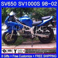 Обтекатель для SUZUKI SV650S SV400S SV1000S 98 99 00 01 02 29HM. 0 SV 650 S 400 S 1000 S SV400 S 1998 1999 2000 2001 2002 глянцевый синий