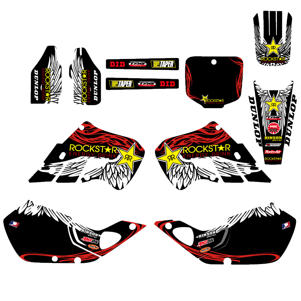 Motorcycle New Team Graphic Background Decals Stickers Kit For Honda CR125 CR 125 1998 1999 CR250