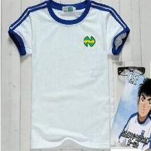 Детские хлопковые повседневные футболки для футбола Оливер атом капитан Tsubasa Equipe de France Синие футбольные японские рубашки