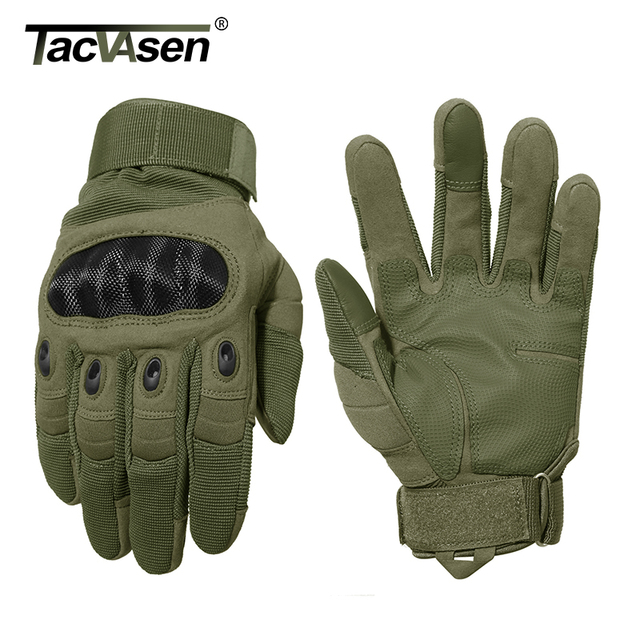 TACVASEN Tactical Gloves Men Army Paintball Gloves Mitten Armor Protection Shell Full Finger Gloves Military Airsoft Accessories 5