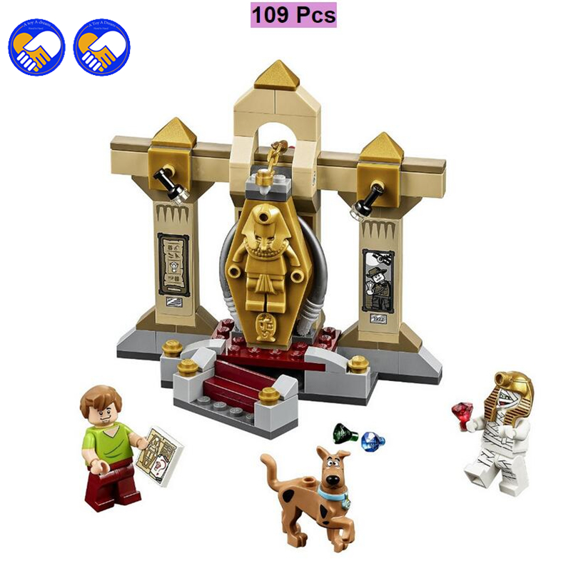 A toy A dream BELA Scooby-Doo 10428 Mummy Museum stery Building Block Model Kits Scooby Doo Marveled Toys Lepin Kaizi Bela bela 10429 scooby doo mummy museum mysterious plane minifigures building block minifigure toys best legoelieds toys