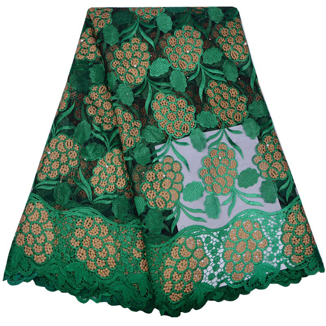 Green Color African Lace Fabric Wedding Decoration Christmas     Green Color African Lace Fabric Wedding Decoration Christmas Decorations  for Home French Nigerian Lace Fabrics