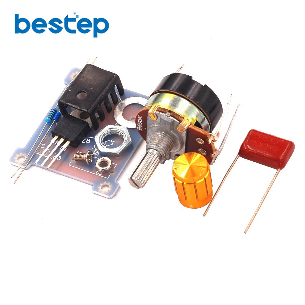 220V 500W Dimmer Thermostat Regulator Infinitely Variable BT136 Speed Governor