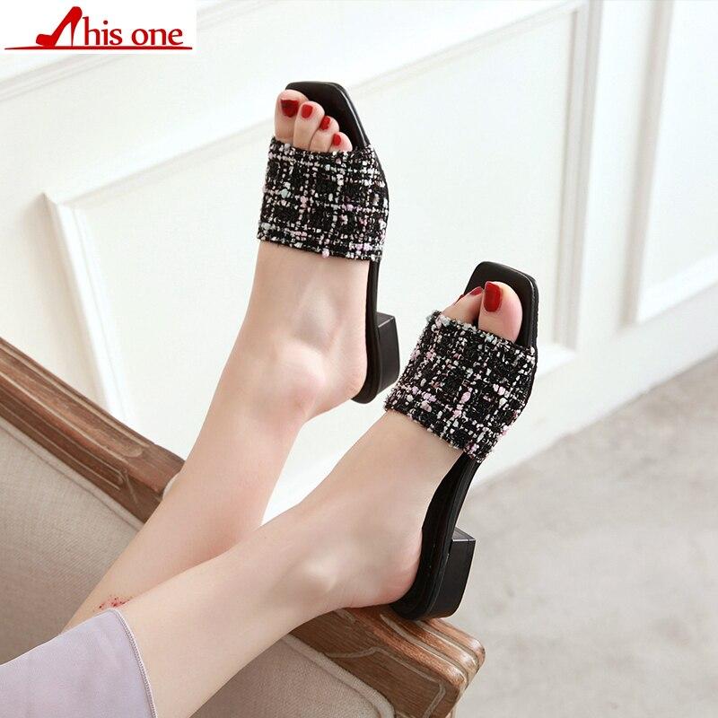2019 nuevo verano sólido de tela plana zapatillas de interior mujeres antideslizante zapatillas de playa chanclas mujeres las diapositivas zapatos size34 48