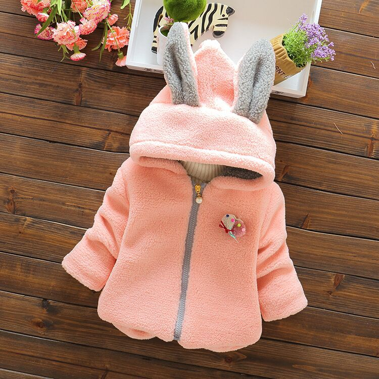 2016 Infant Baby Boys Parka Toddler Girls Snow Wear Baby Coat Cute Rabbit Cotton-Padded Snowsuit Baby Winter Jacket Thick Baby infant snowsuit new toddler boys girls winter suits thermal down jacket thickening jumpsuit fur collar baby snow wear