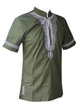 Dashikiage African Man Casual Top Kwanzaa Embroidery Dashiki Summer Mens t shirt