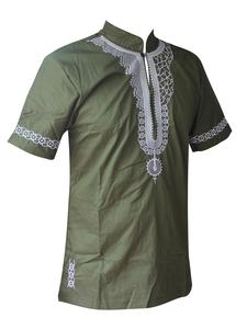 Image 1 - Dashikiage African Man Casual Top Kwanzaa Embroidery Dashiki Summer Mens t shirt