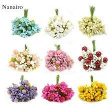 10 шт., жемчужный ягодный искусственный цветок для украшения дома, свадьбы, скрапбукинга, дешевые искусственные цветы из пены