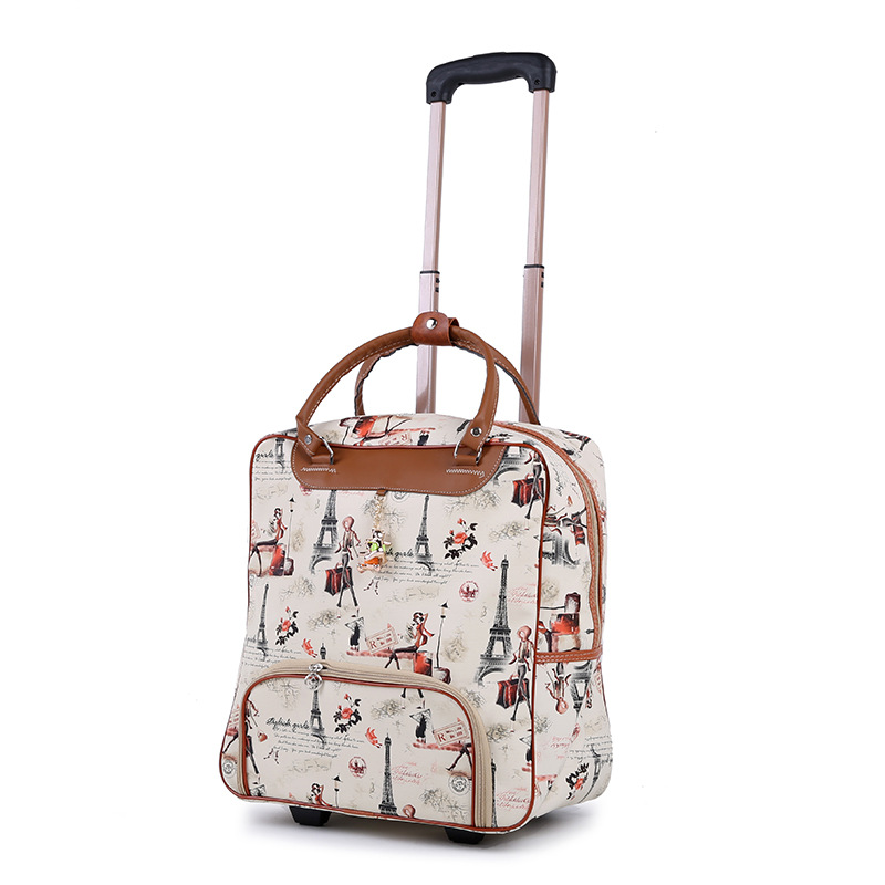 Valise pour femme, cabine étanche tissu Oxford, chariot voiture, bagage à main, boîte de remorque, boîtier de chariot à roue universel
