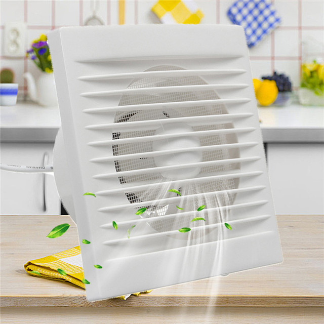 White 12W 220V Hanging Wall Window Glass Small Ventilator Extractor Exhaust  Fans Toilet Bathroom Kitchen Fan