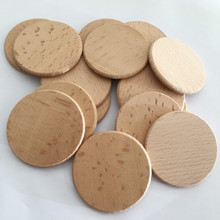 100 stücke Natürliche Holz Scheiben 1,96 Zoll Holz Handwerk Natürliche Runde Holz Scheiben DIY für Geburtstag Party Tisch Zahlen Hochzeit malerei